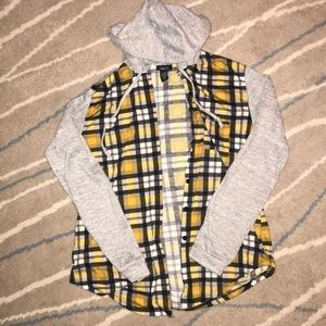 Black and yellow, sweater flannel.